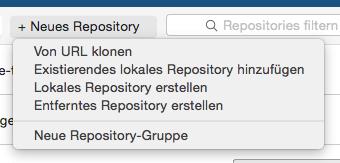 Neues Repository erstellen