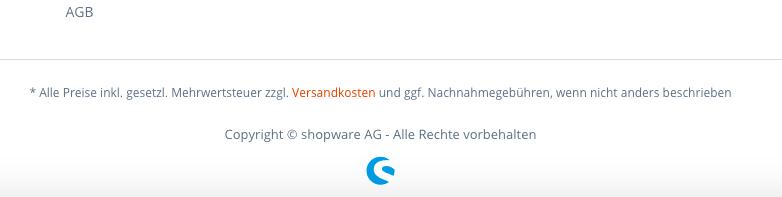 Shopware Logo Footer Vorher