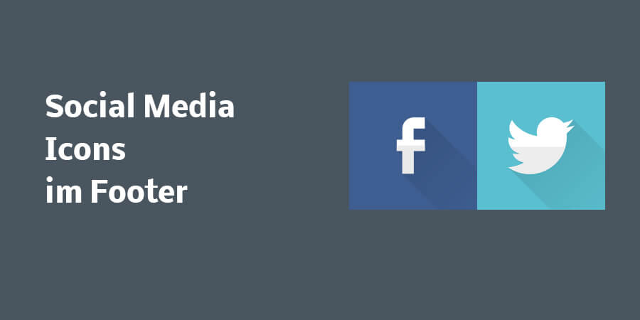 Social Media Icon mit Link im Footer