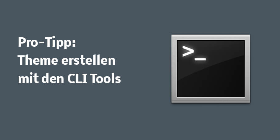 Pro-Tipp: Theme erstellen mit den CLI Tools (Command Line Interface Tools)