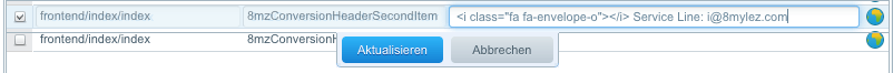 Conversion Header Icon Textbaustein