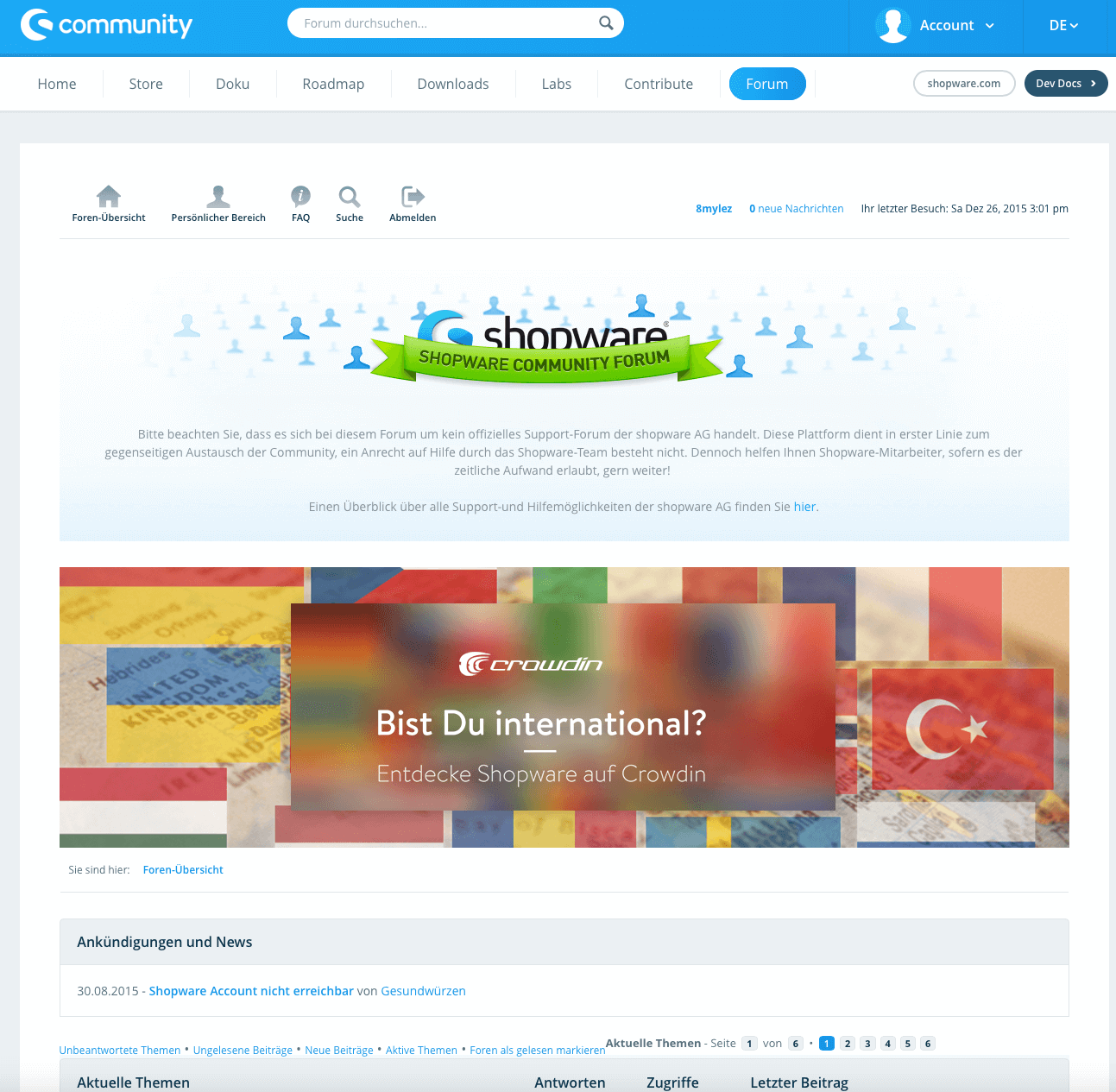 Shopware Community Forum