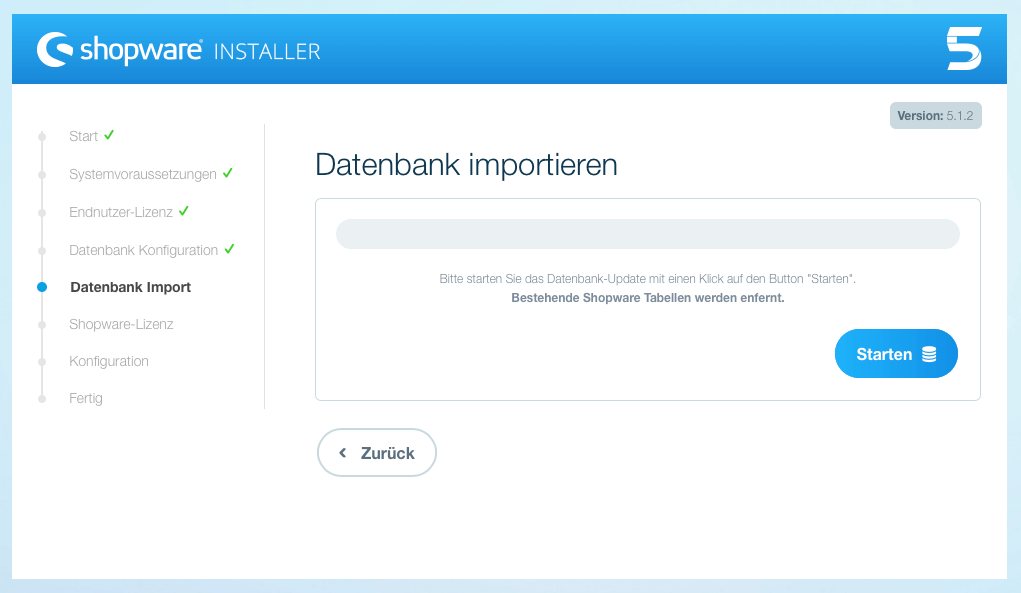 Shopware 5 Datenbank Import