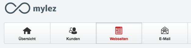 Webseiten Reiter