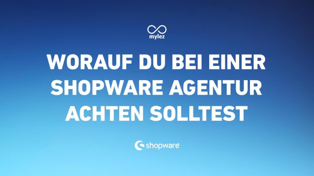 Shopware 5 Agentur - worauf du unbedingt achten solltest