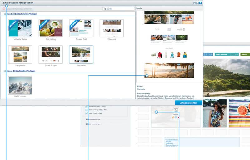 shopware 5.3 vorlagenmanager einkaufswelten