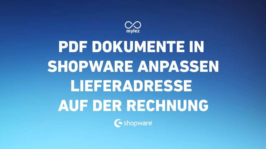 Leitfaden: PDF Dokumente in Shopware Anpassen - Konkretes Beispiel: Lieferadresse auf der Rechnung