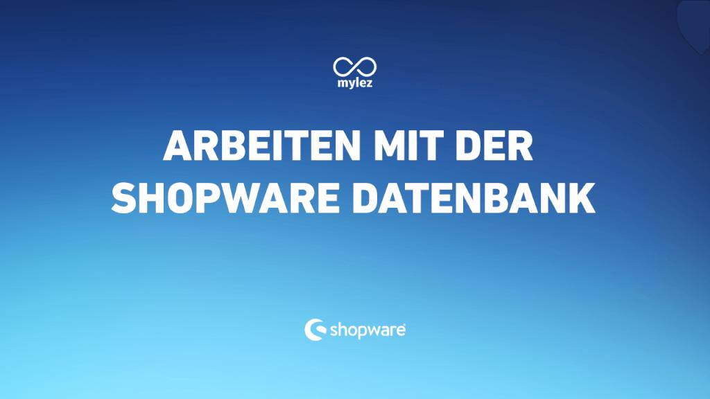 Wie arbeite ich mit meiner Shopware-Datenbank?