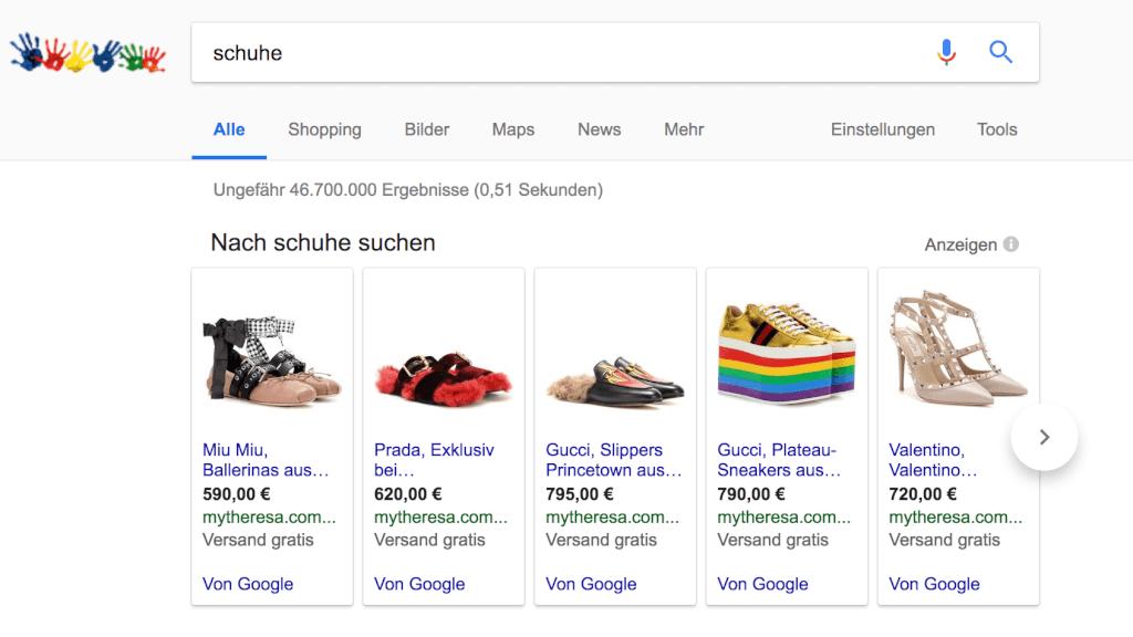 google shopping bilder suche