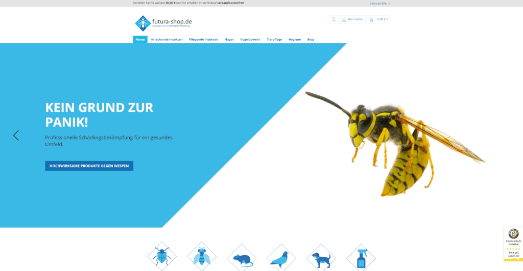 Futura Startseite