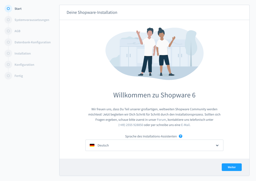 Shopware6InstallationStart
