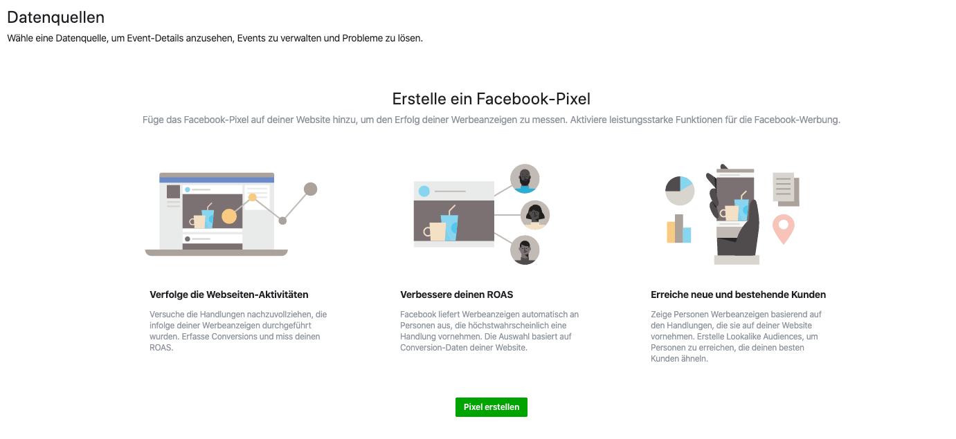 ShopwareFacebookPixelErstellen