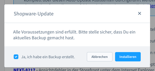 Shopware6UpdateInstallation