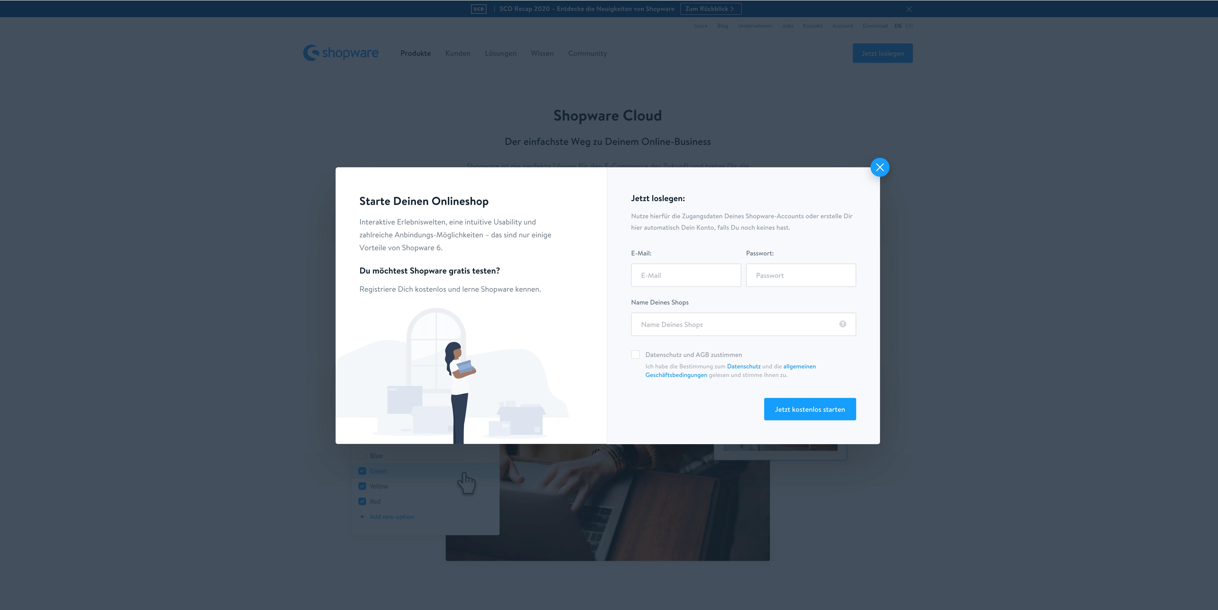 screenshot erstelleung cloud blogbeitrag