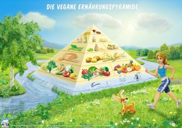 Vegane Ernährungspyramide PETA