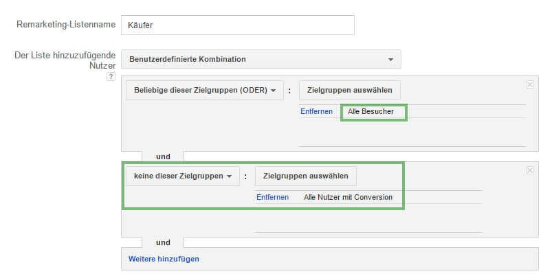 AdWords negatives Remarketing