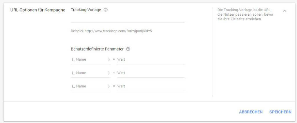 Neues AdWords Design - Trackingvorlage