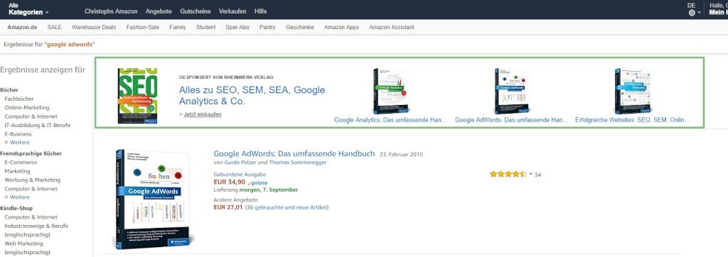 Amazon Marketing AMS Headline Search