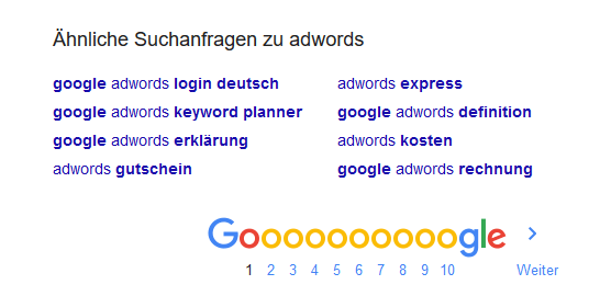 AdWords Tools     hnliche Suchanfragen
