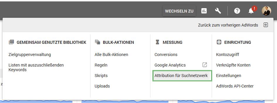 Attribution fuer Suchnetzwerk