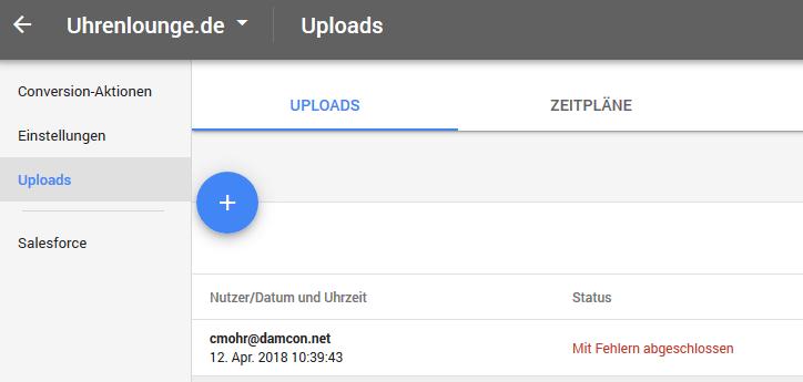 Offline Conversion Upload