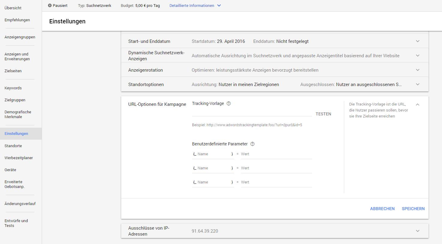 Tracking-Vorlagen und finale URLs - Christoph-Mohr.com