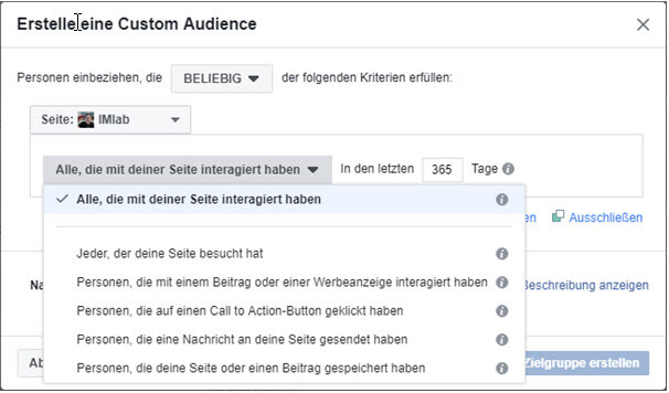 09 custom audience interaktion fanpage