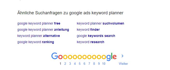 Google Ads aehnliche Suchanfragen