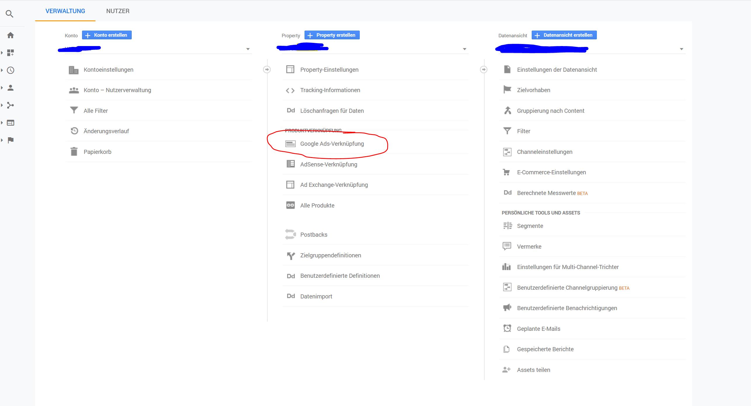 Google Ads Verknuepfung