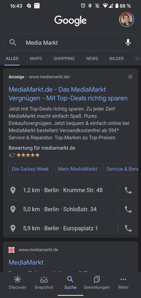 Google Anruferweiterung