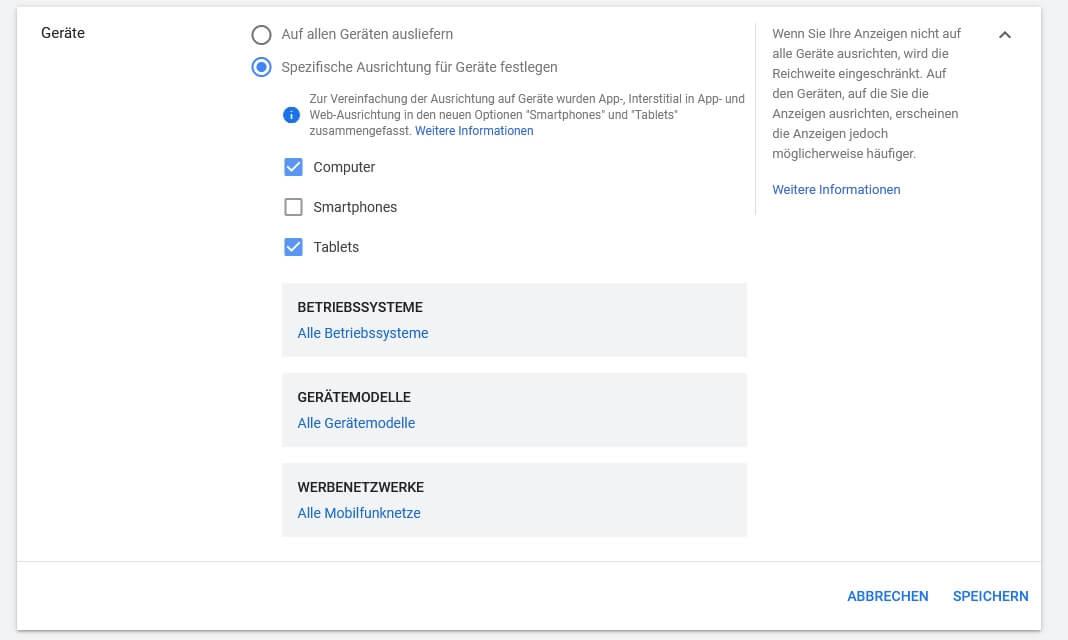 Google Ads Displaynetzwerk