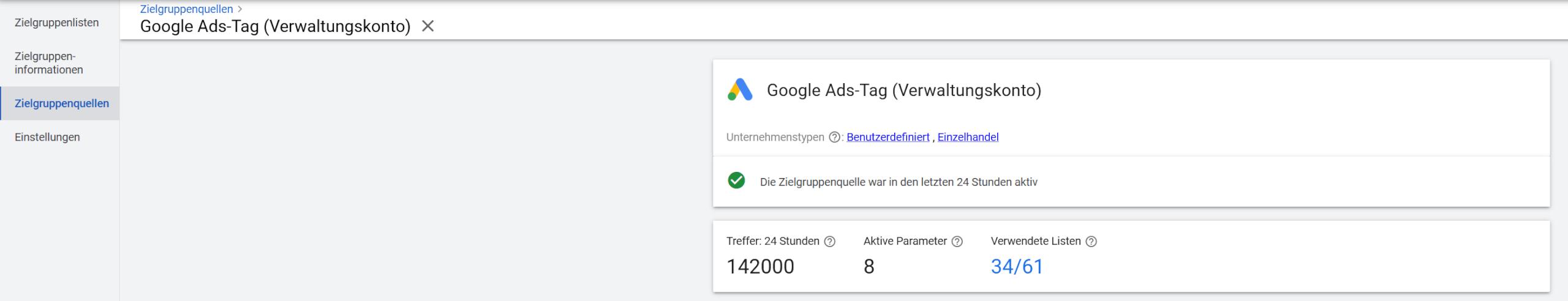 Google Ads Tag dynamisches Remarketing