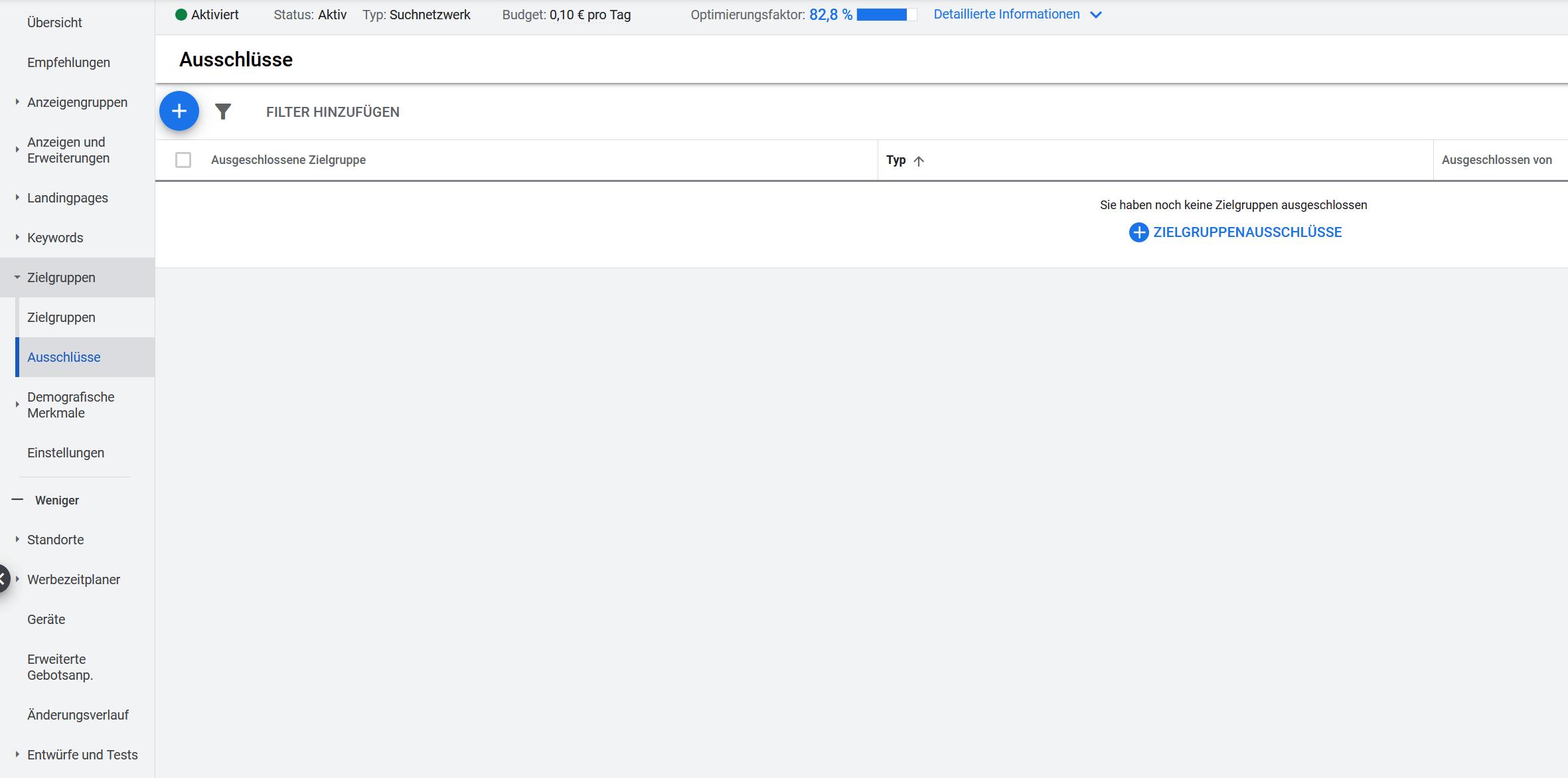 Google Ads Zielgruppen ausschliessen
