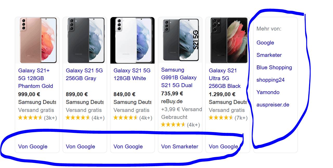 Google Shoppinganzeigen Quelle