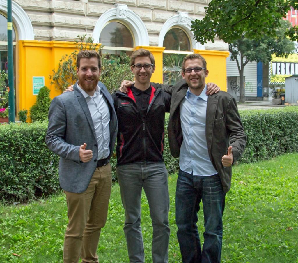 Ich, Mike (von Xeer) & René (mein FastBill Co-Founder)