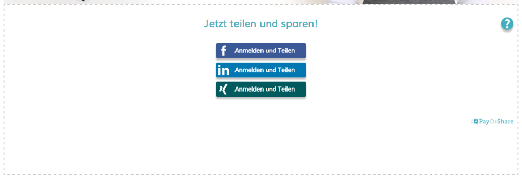 Screenshot PayOrShare Demo https://magento.payorshare.de/coupon-share