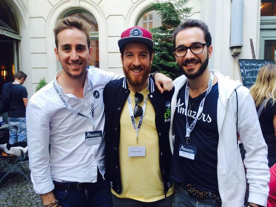 Treffen mit den Amazers Brüdern Fabio (rechts) und Danilo (links) in Berlin