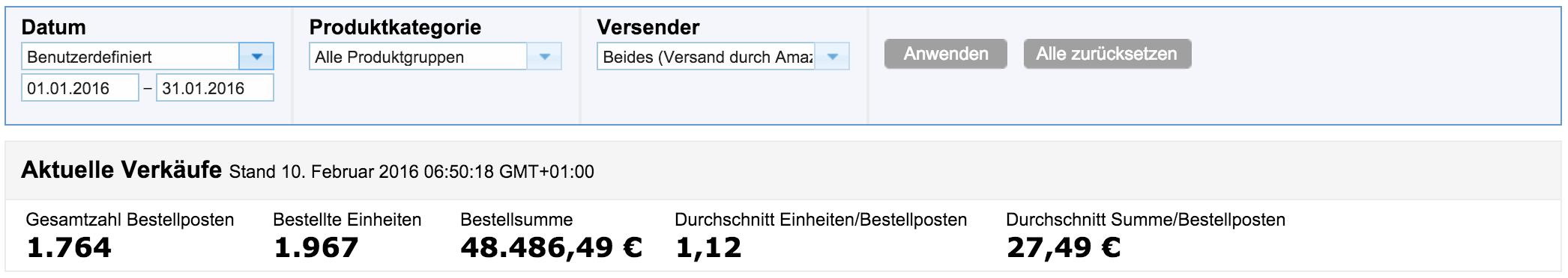 Mein Amazon Januar 2016 Bericht: 48.486,49€