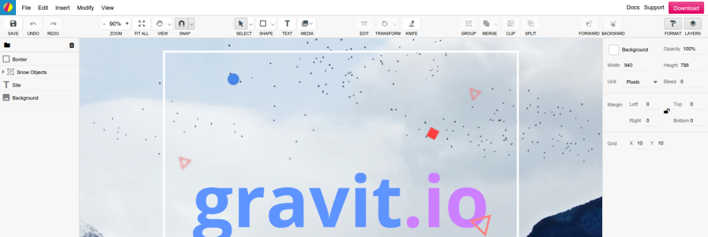 Screenshot Gravit.io