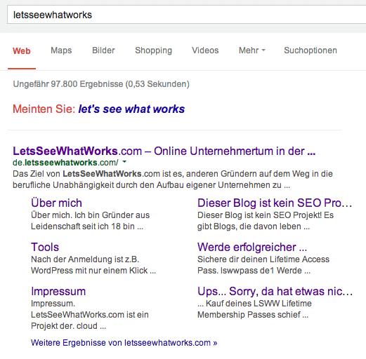 LSWW Google Abfrage