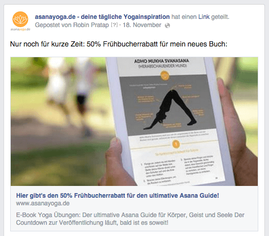 Traffic durch Facebook-Promotion
