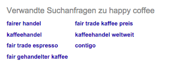 "Alternative Suchanfragen zu ""happy coffee"""