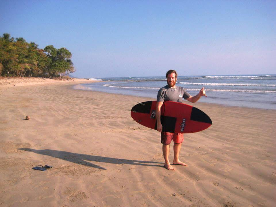 Beim Surfen in Costa Rica