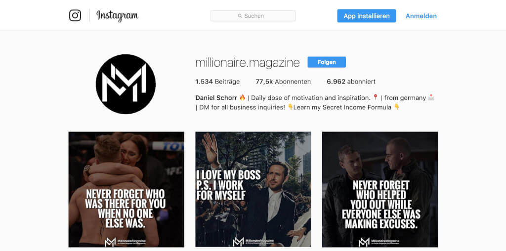 Instagram Followers Hack - 100.000+ Instagram-Follower in einem Jahr