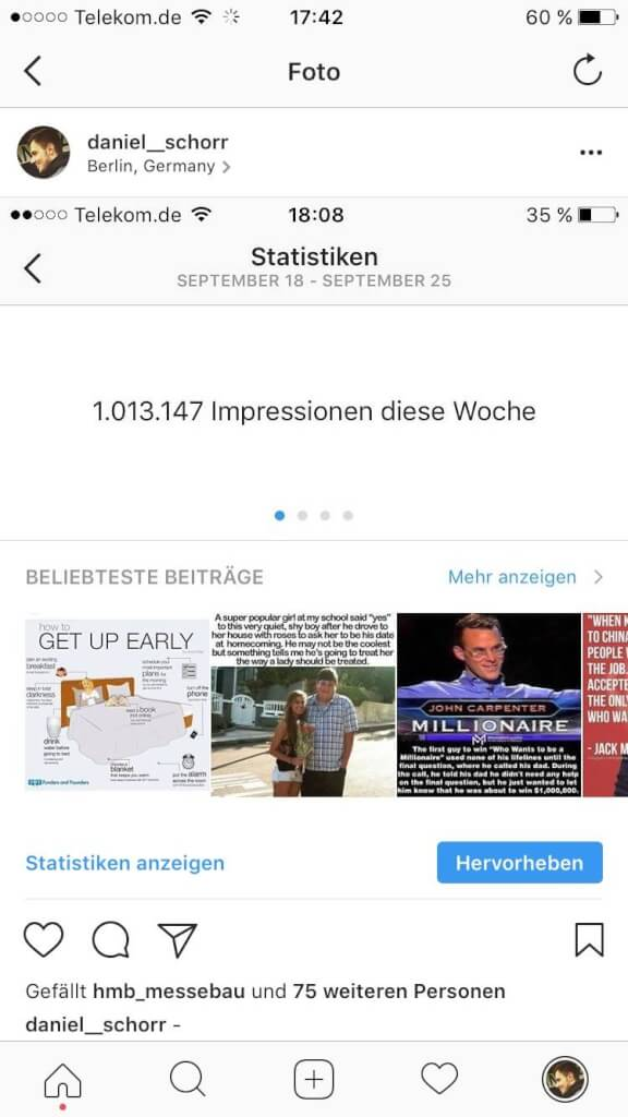 Instagram Followers Hack Impressionen Screen