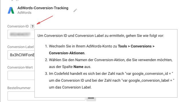 gtm conversion bsp adwords