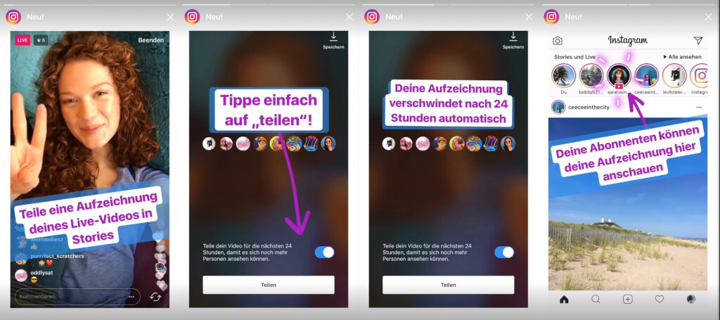 Instagram Live Videos neue Funktion