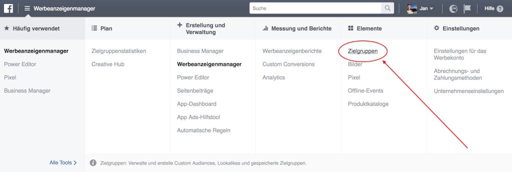 Facebook Custom Audience Zielgruppe erstellen