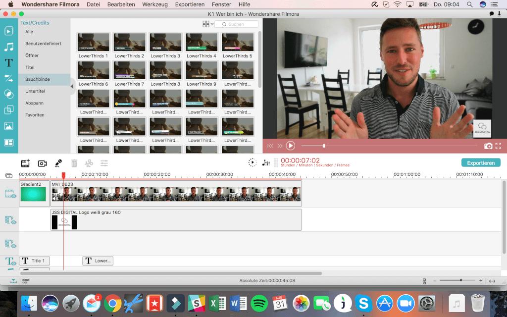 Filmora Videoschnitt Nachbereitung
