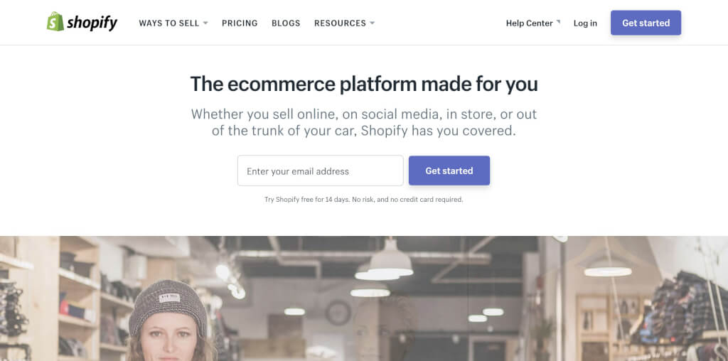 Online Shop Software Shopify